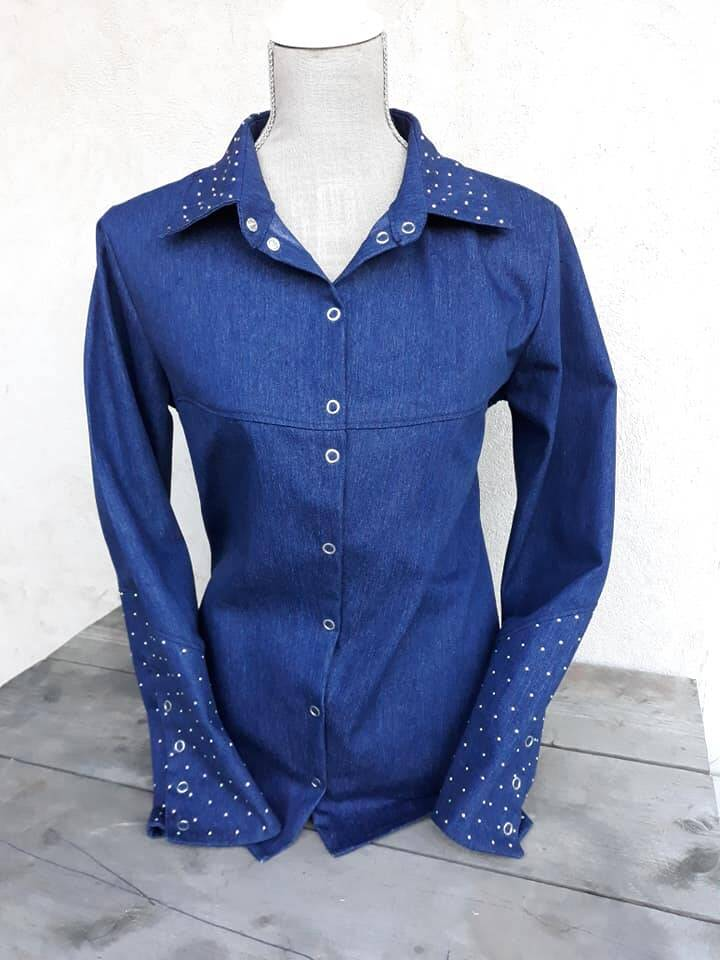 Dames blouse Dakota met strass stenen 001
