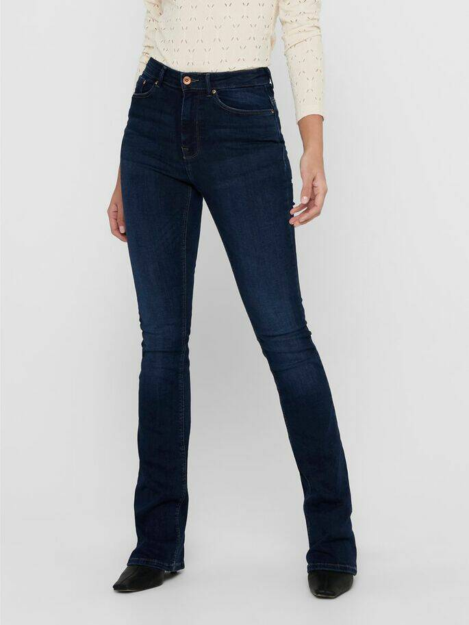 ONLY PAOLA FLARED JEANS DARK USED 15170664
