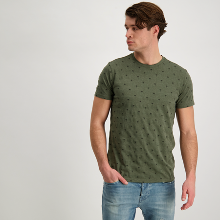 CARS JEANS HOUSTON T-SHIRT SS ARMY 48493 Nr. 700