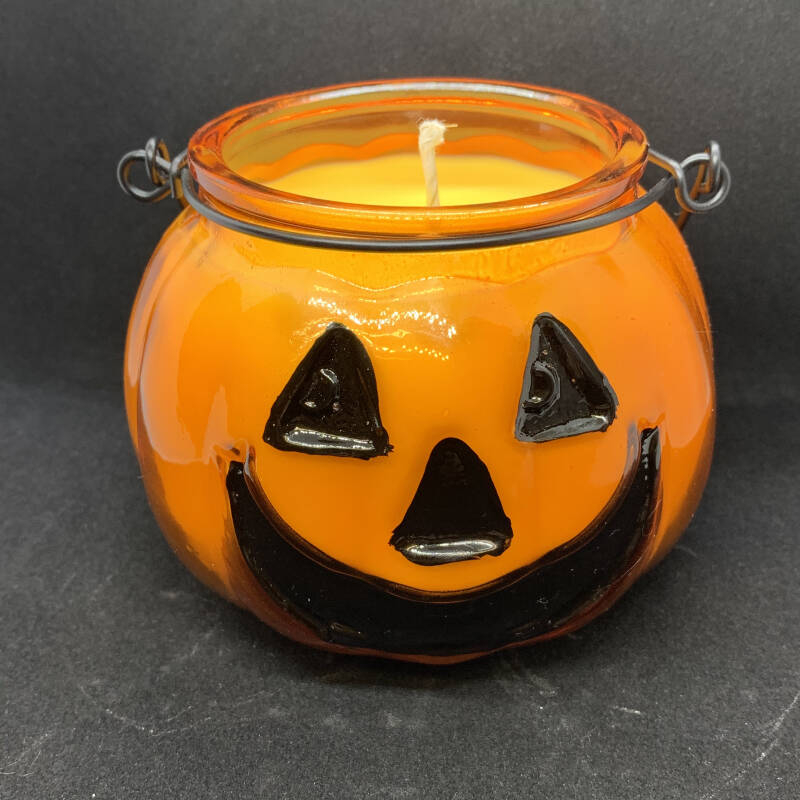 Decorative Pumpkin Spice Halloween Soy Candle