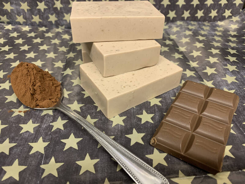 Choc it Out! Vegan Shea and Cocoa Butter Soap - Natural, Sustainable 105g - Handcrafted