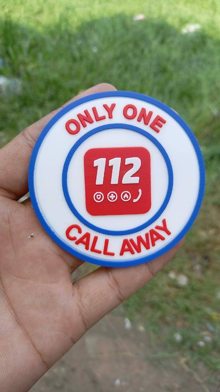 PVC patch 'Only one call away'