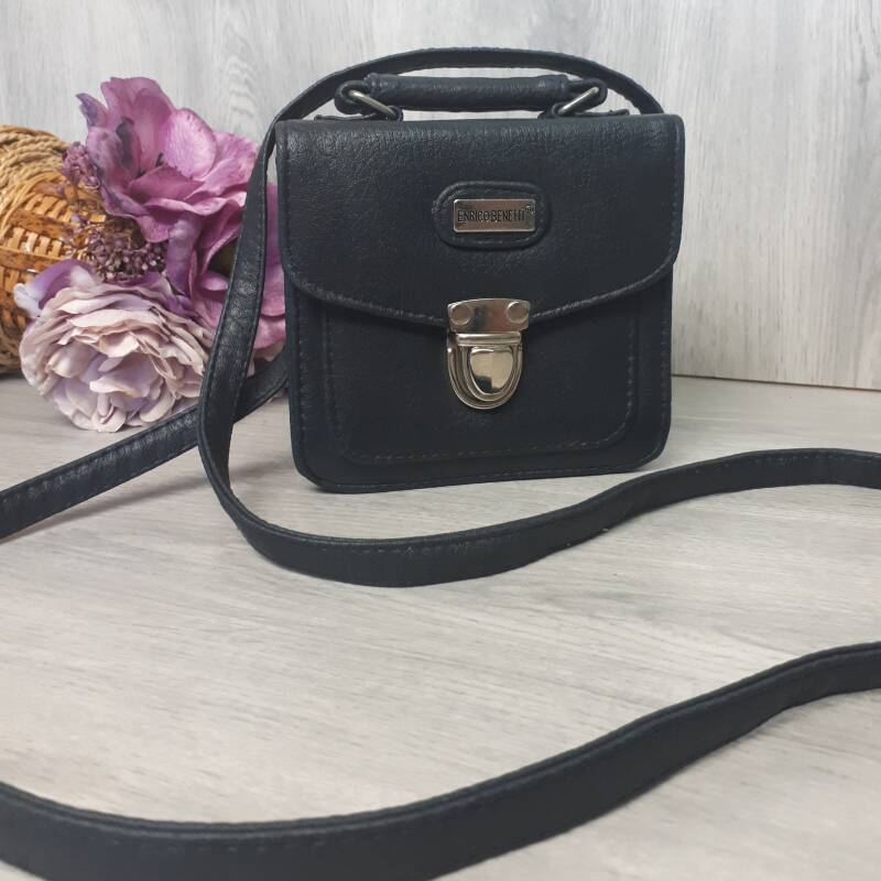 Vintage Handbag |  Navy Box Bag