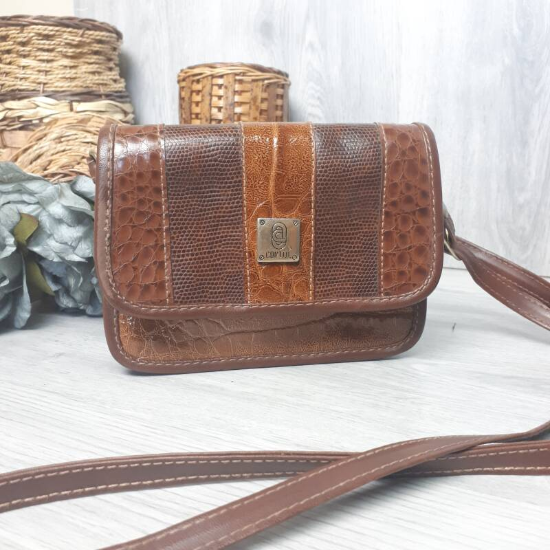 HBG -  Brown Textured Bag