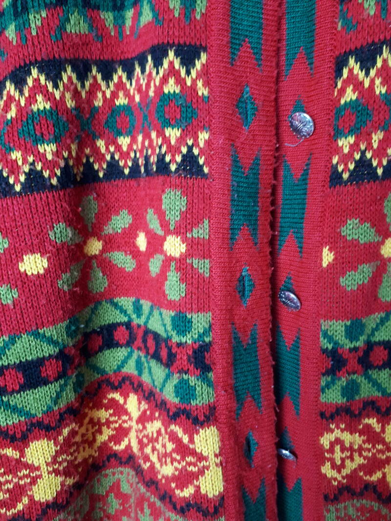 Vintage Knitwear | Cardigan Almost Christmas