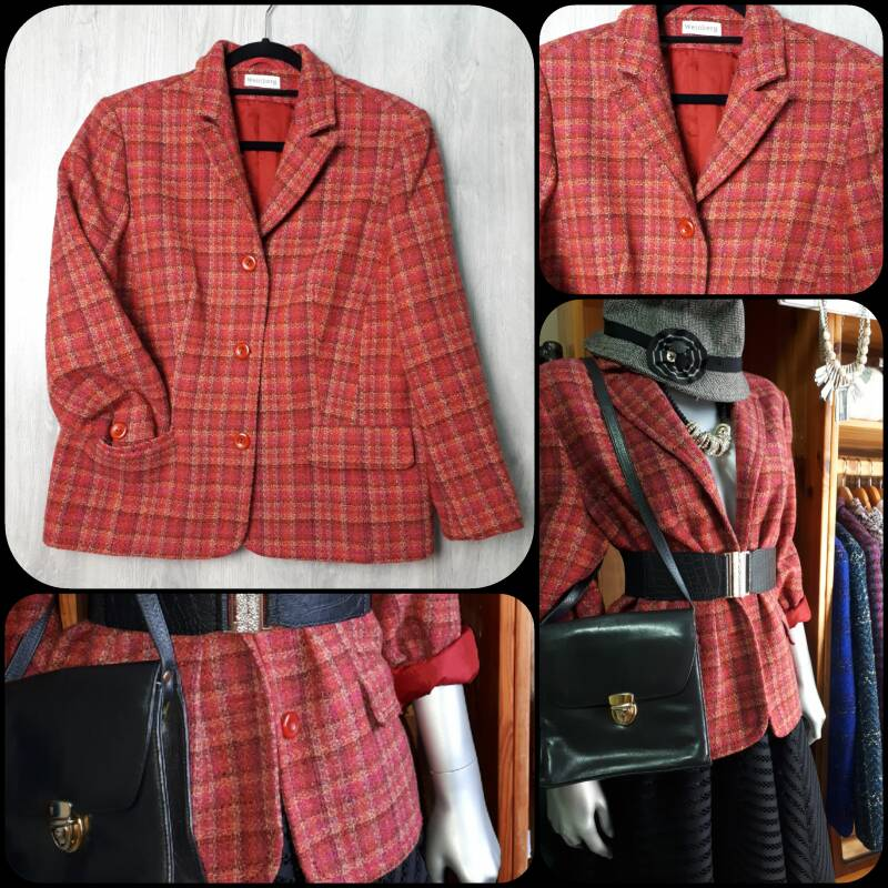 Vintage Blazer |  Very Berry