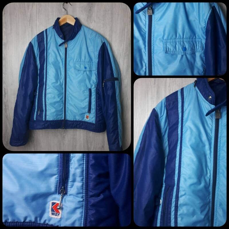 Vintage Coat | Puffa - Blue on Blue