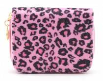 Portomonnee with Leopard Print Pink