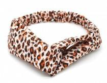 Headband with leopard print