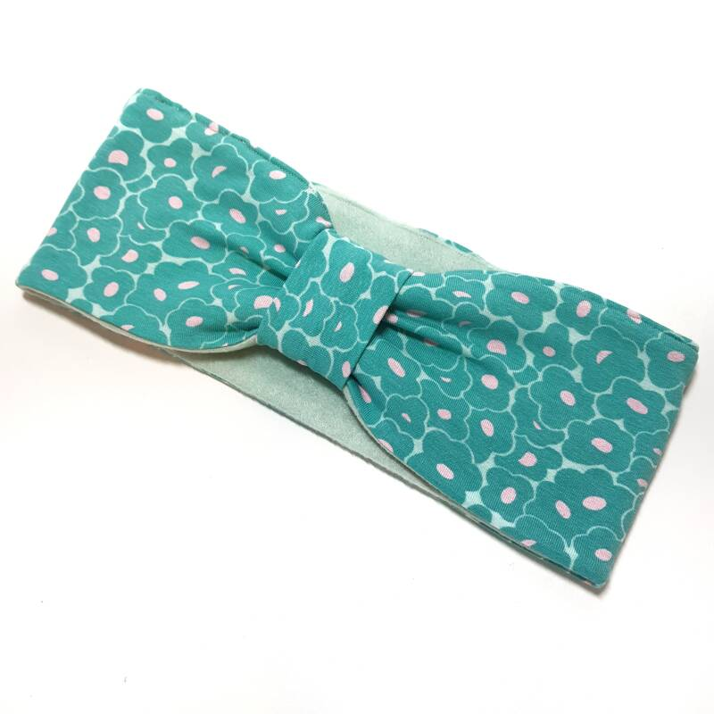 Haarband met Fleece Minty