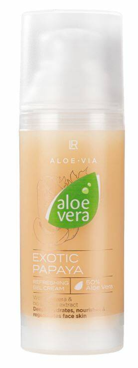 Aloe Vera Exotic Papaya Verfrissende gel cream
