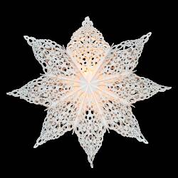 Ster wit snowflake incl. verlichting