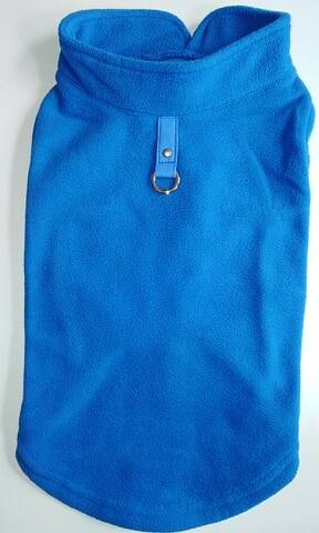 Fleece + attache blauw 36cm