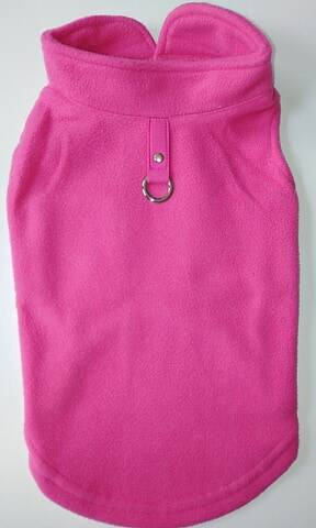 Fleece + attache roze 32cm