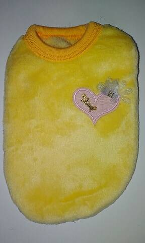 Fleece mini geel love 17cm