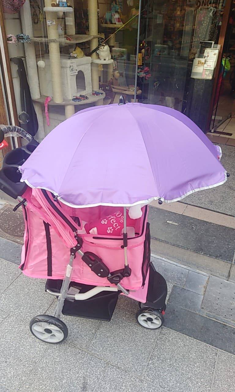 Parasol Buggy UV-protection paars