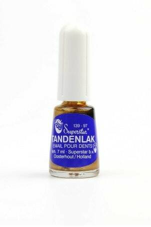 Superstar tandenlak met kwastje 9 ml - in goud of zwart