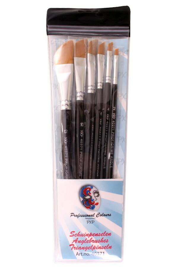 PXP Professional Colours 6 brushes angle profigrime synthetic hair 40371