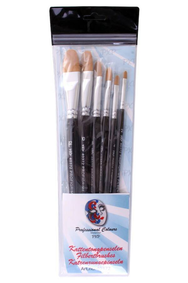 PXP Professional Colours 6 brushes Filbert profigrime synthetic 40372
