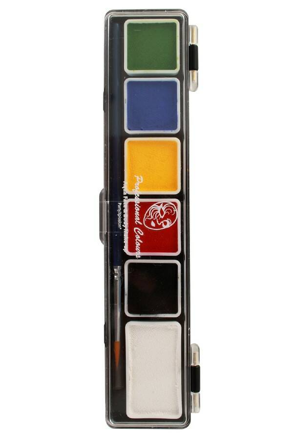 PXP Professional Colours palet essential colours 5 x 3 and 1 x 6 gram with a brush size 2