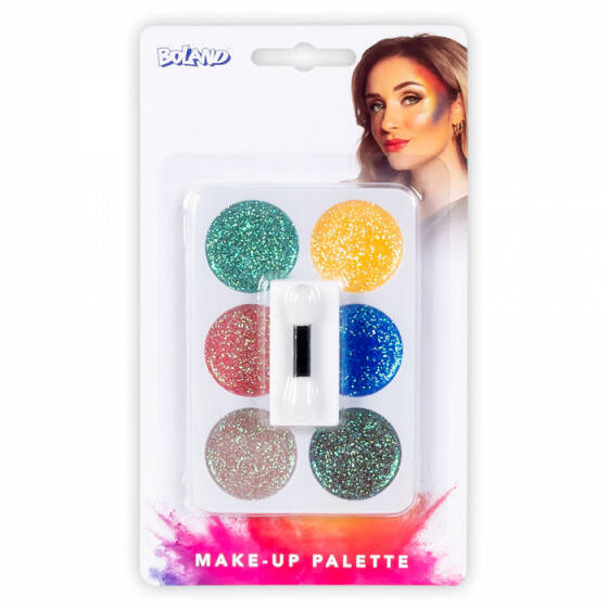 Boland make-up set Glitter 3-delig - 6 kleuren