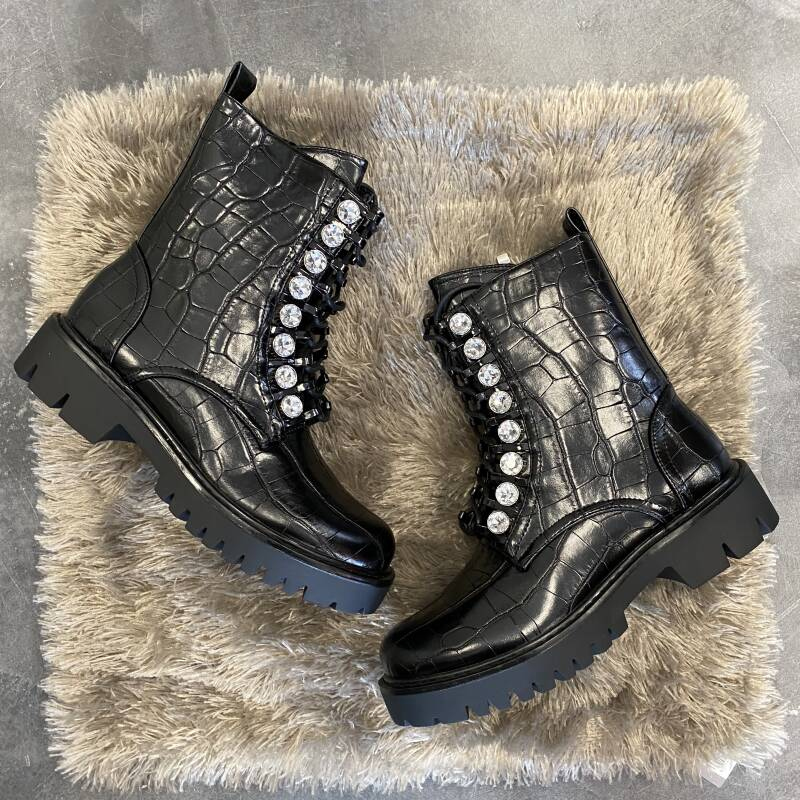 Croco boots bling