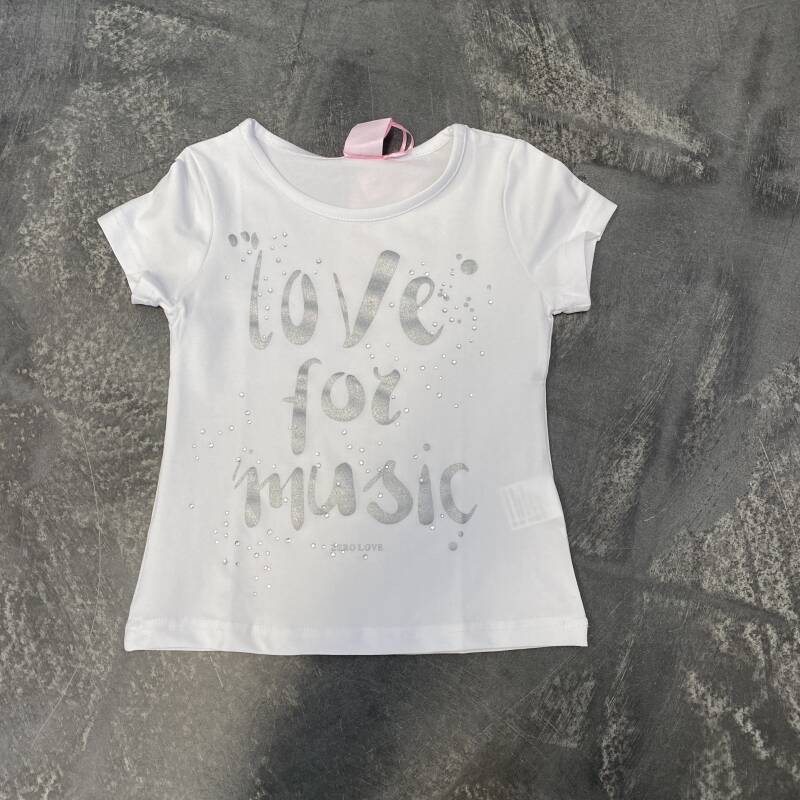 T-shirt Zero love for music
