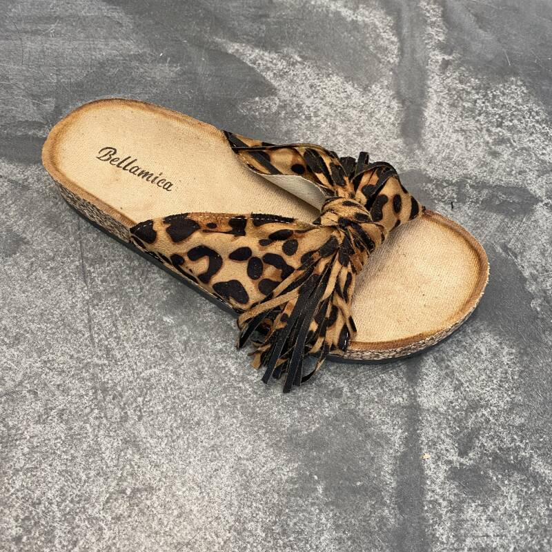 Slipper met franje strik H50004