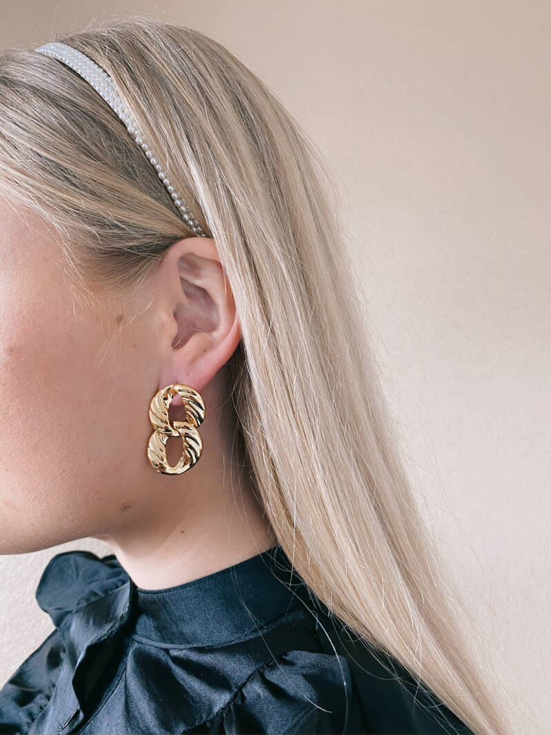 Oorbellen double hoops - gold