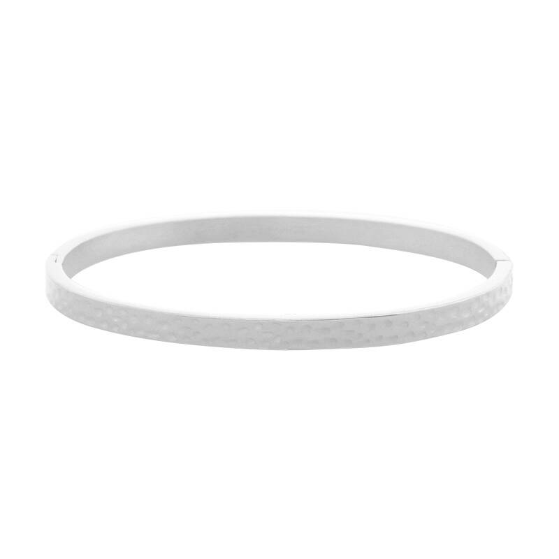 Armband bangle leo footprint small - silver