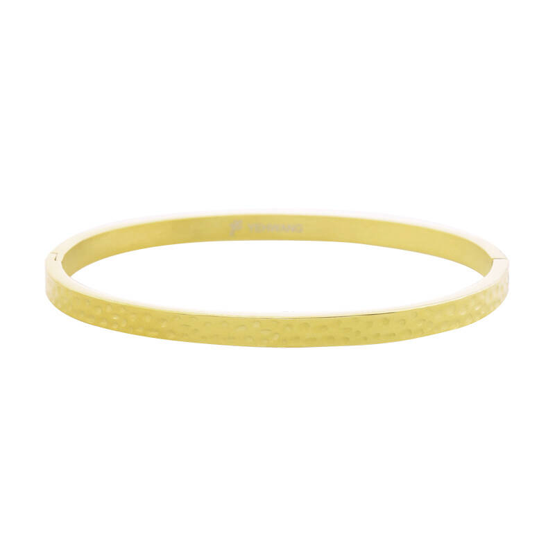 Armband bangle leo footprint small - gold