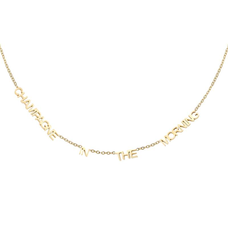 Ketting champagne in the morning - gold