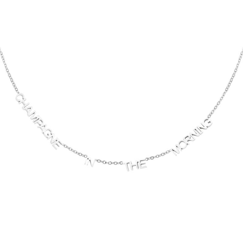 Ketting champagne in the morning - silver