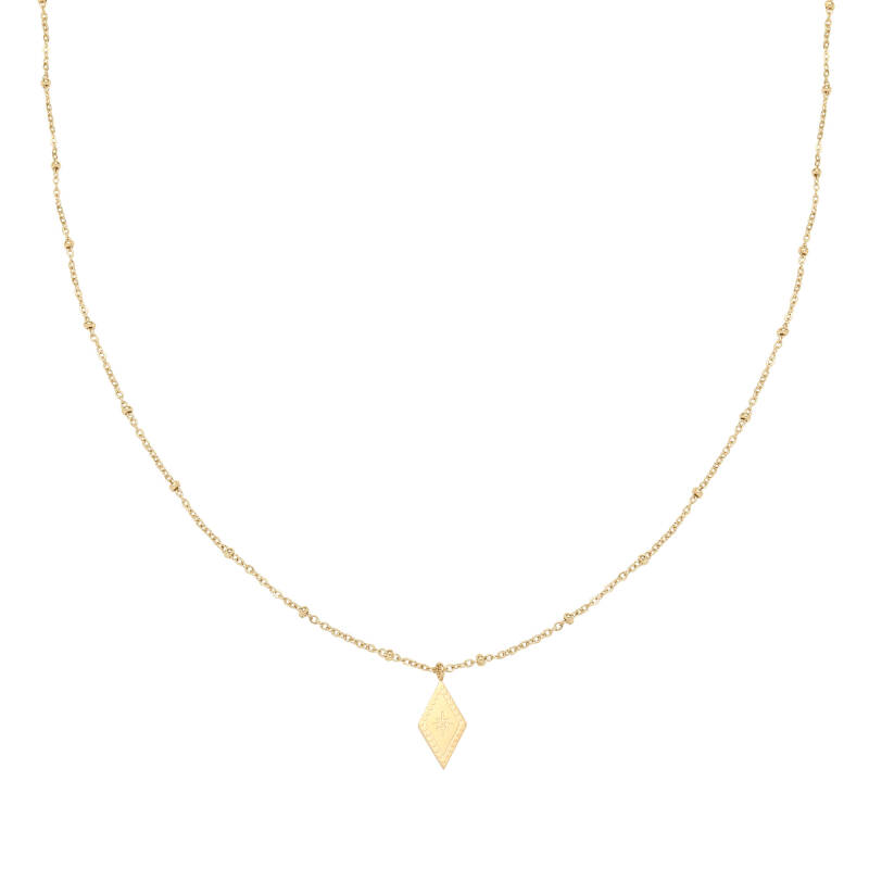 Ketting sparkle on - gold