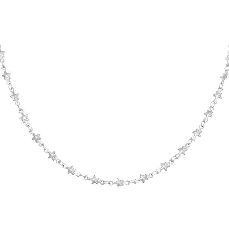 Ketting chained star - silver