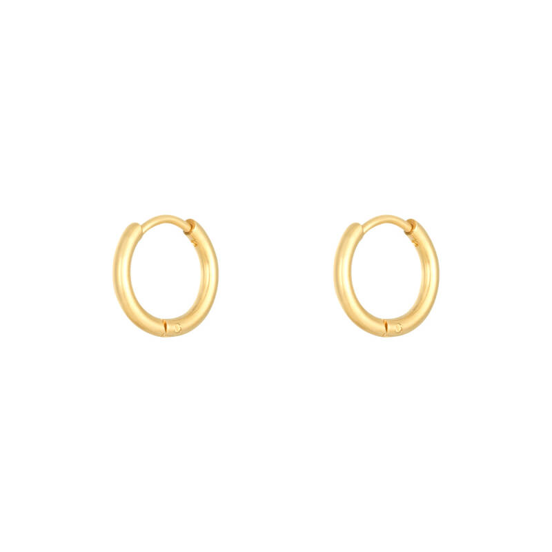 Oorbellen little hoops 1.4cm - gold
