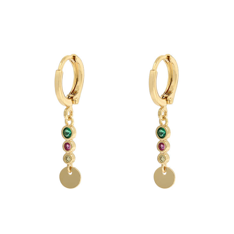 Oorbellen sparkle and circle - multi
