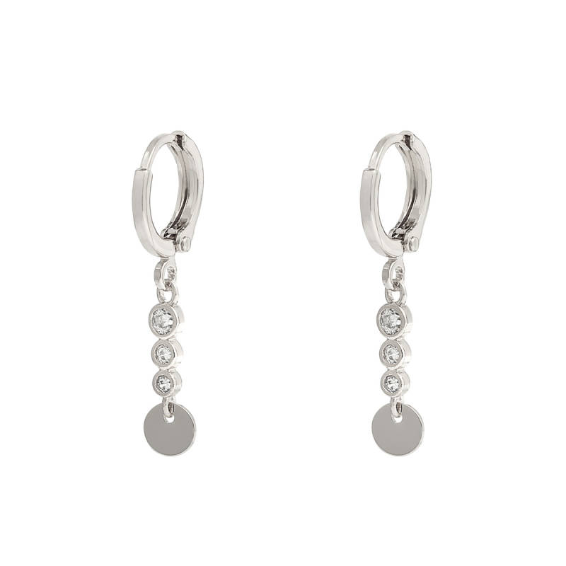 Oorbellen sparkle and circle - silver