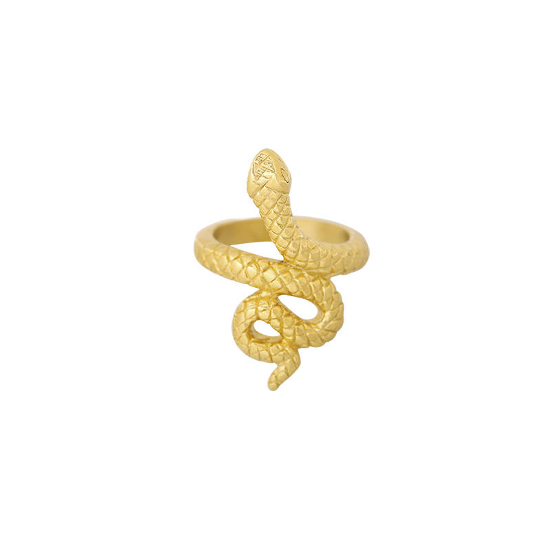 Ring flawless snake - gold