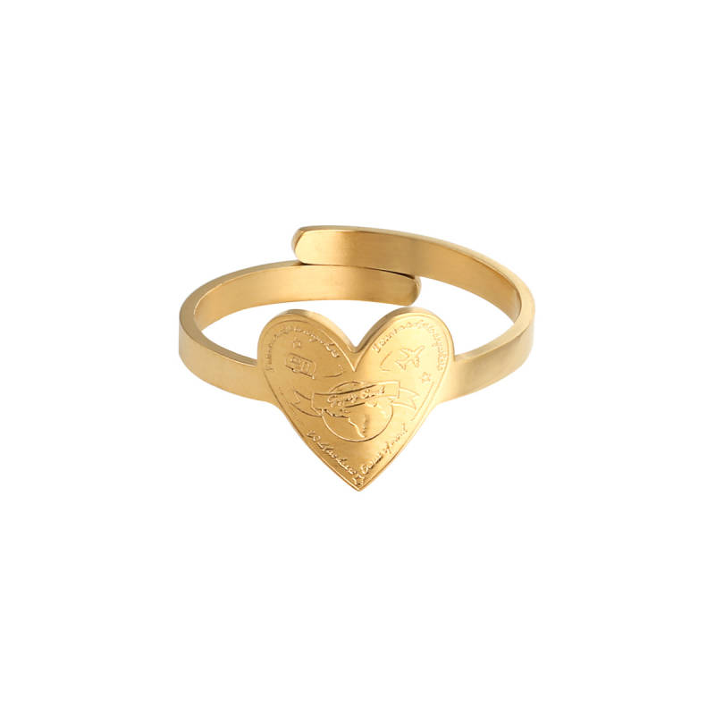 Ring love to travel - gold