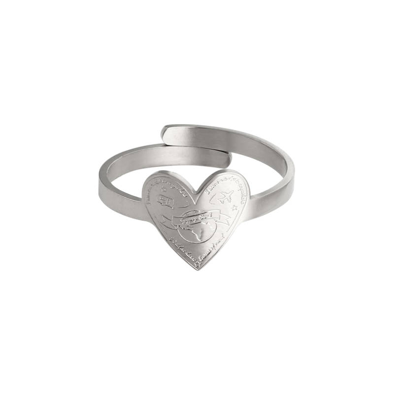 Ring love to travel - silver