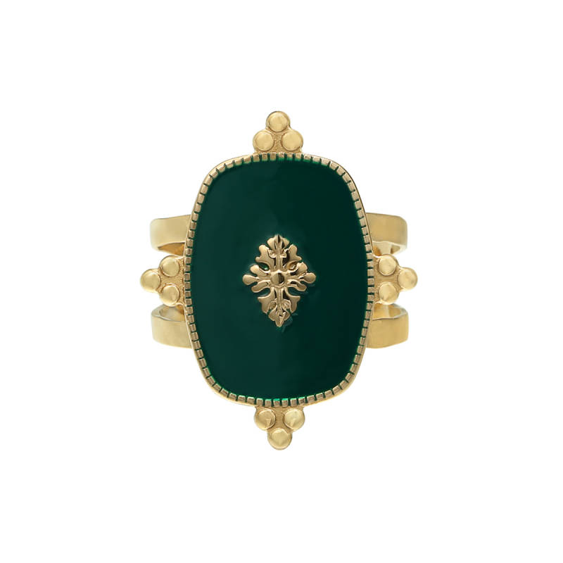 RING PRECIOUS LEAF - GREEN