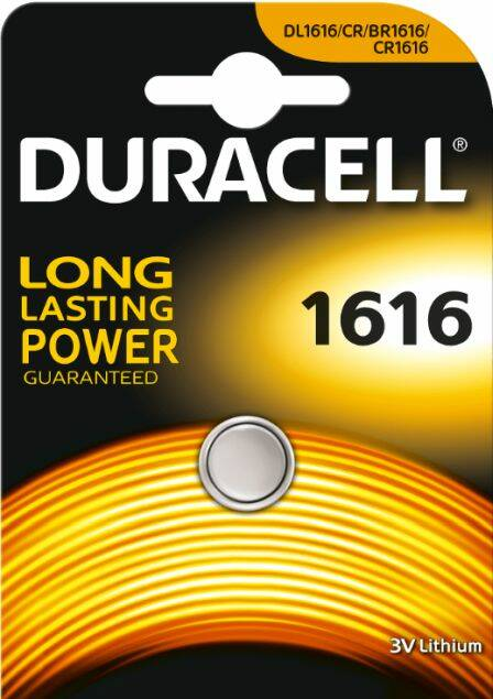 CR1616 - Duracell - Knoopcel 3V- Lithium