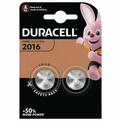 CR2016 - Duracell - Knoopcel 3V- Lithium