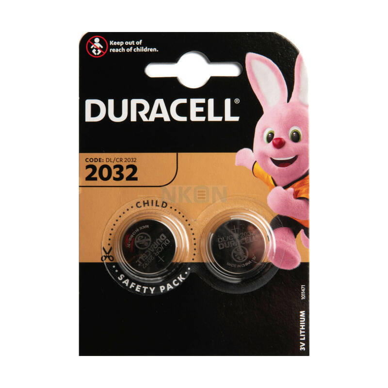 CR2032 - Duracell - Knoopcel 3V- Lithium