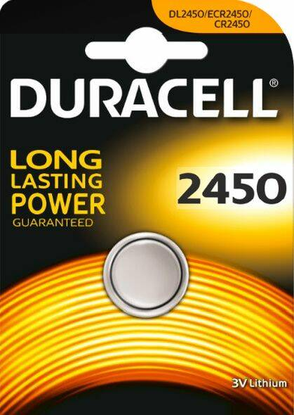 CR2450 - Duracell - Knoopcel 3V- Lithium