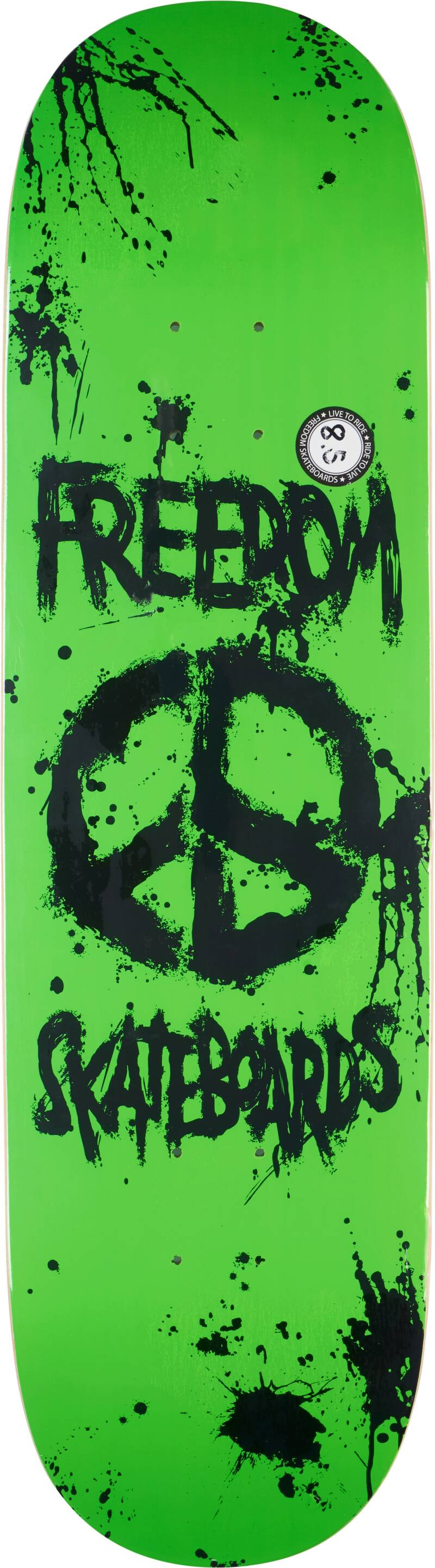 Freedom Peace Paint White Deck