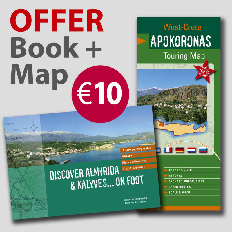 Discover Almyrida & Kalyves... on Foot + Apokoronas Touring Map
