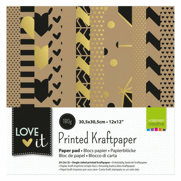 Love It kraft papier 30,5x30,5cm (200106-002)