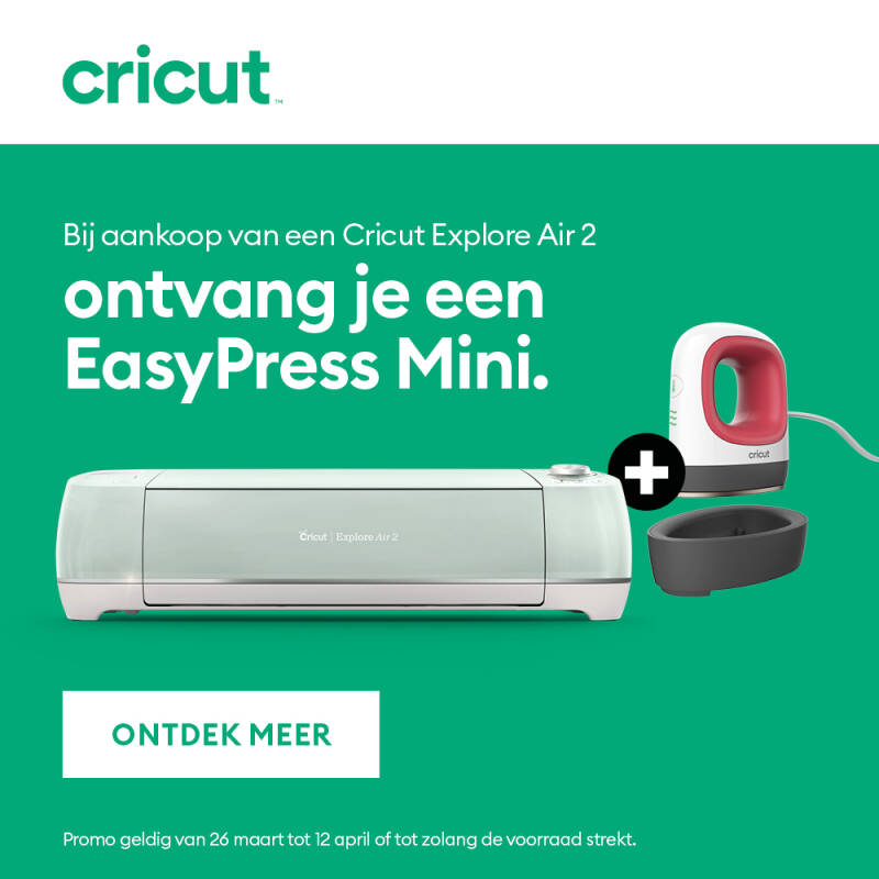Cricut explore air 2 met mini easypress